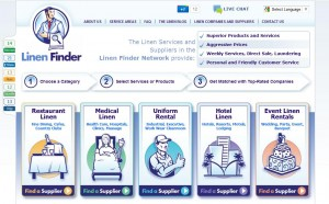 The Redesigned Linen Finder Website