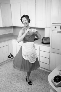 Housewife in her Apron