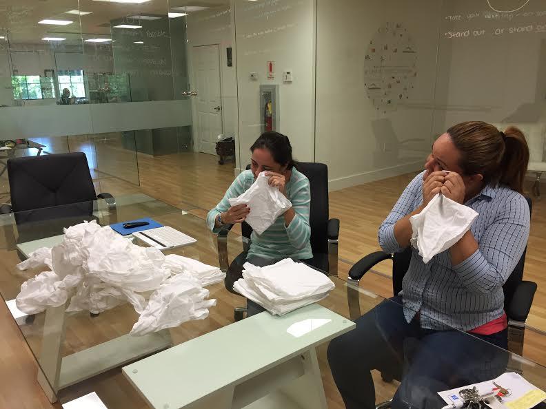 Folding linen napkins