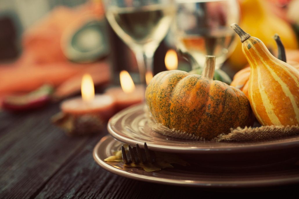 Restaurant autumn thanksgiving place setting