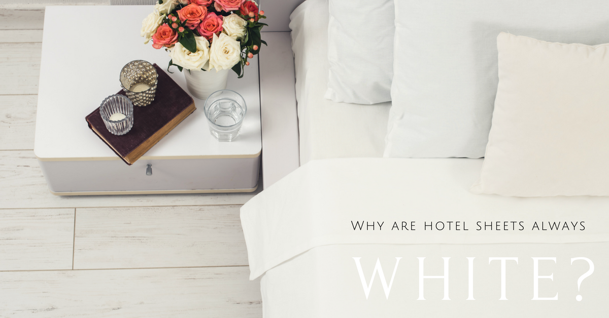 why do hotels use white sheets