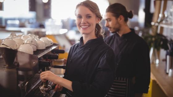 baristas in uniforms