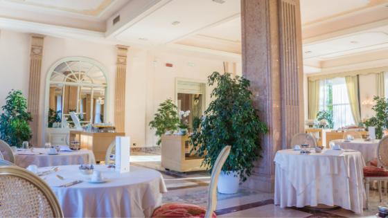 dining room of restaurant